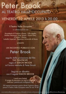 Peter Brook al Teatro Valle occupato